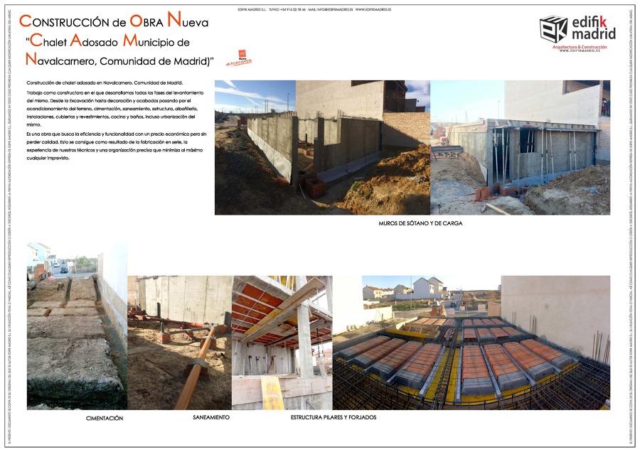 Construcci n de obra nueva chalet adosado municipio de navalcarnero comunidad de madrid ideas - Chalet obra nueva valdemoro ...