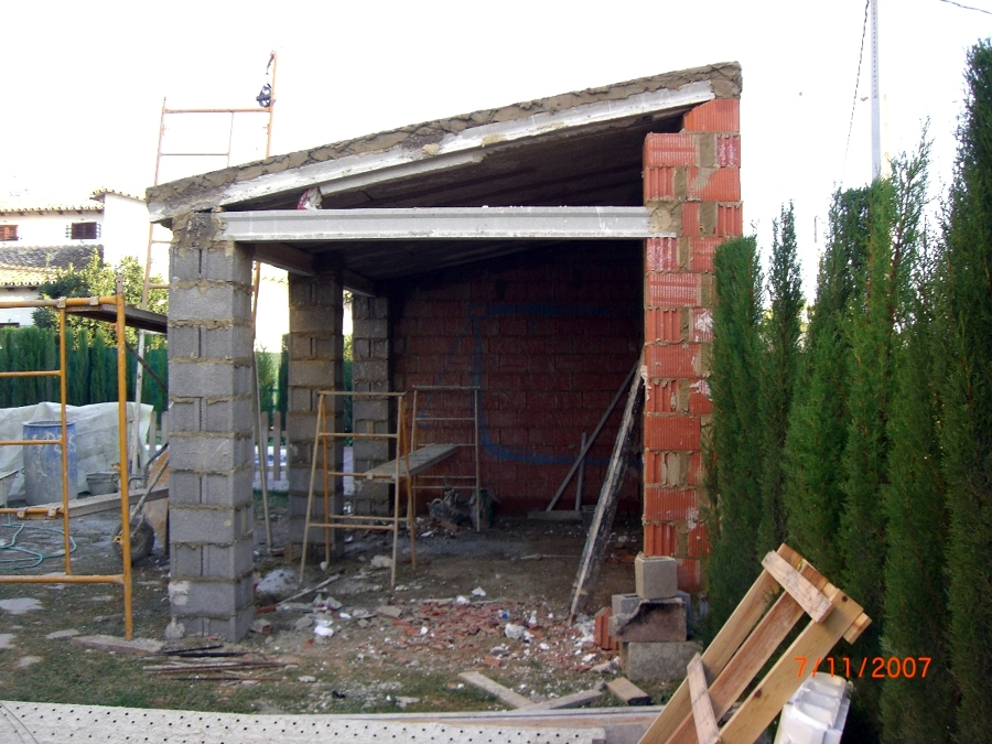 Construccion porche de obra con paellero y lavadero - Paelleros de obra modernos ...