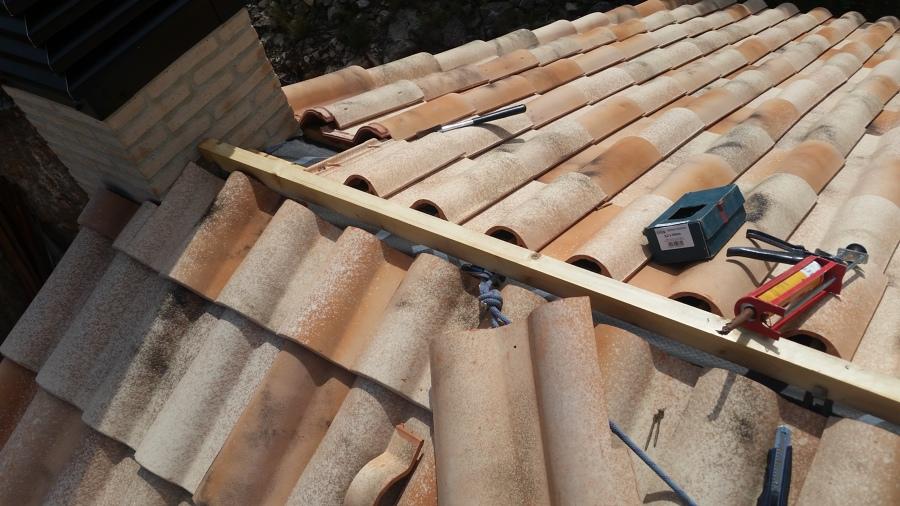 Construccion tejado con rastreles