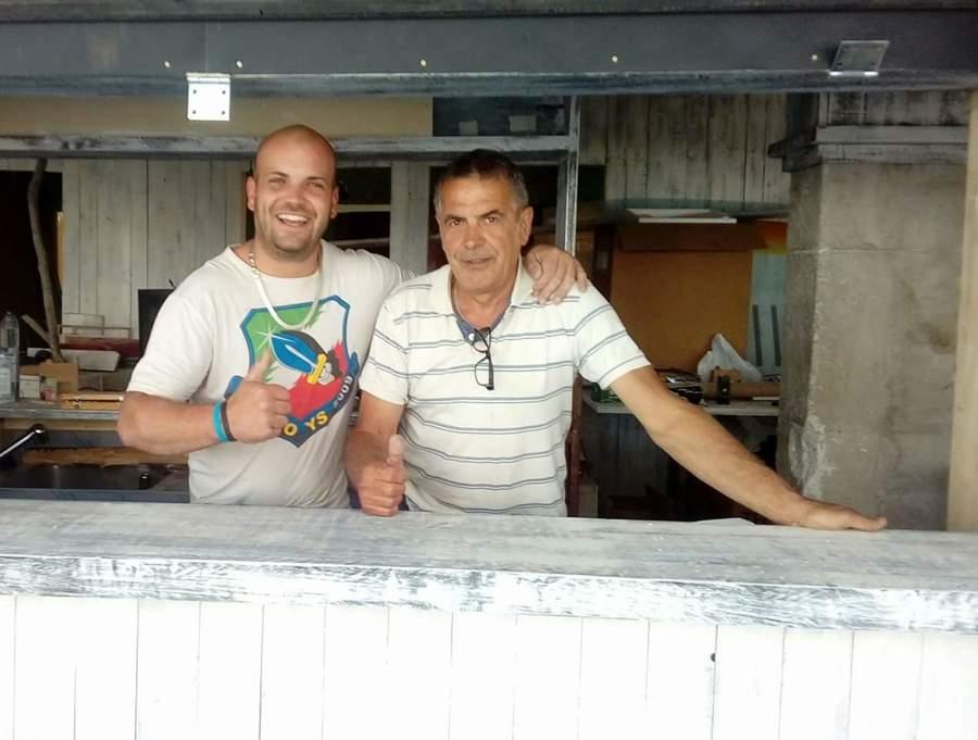 Construcion barra bar Anima Ibiza