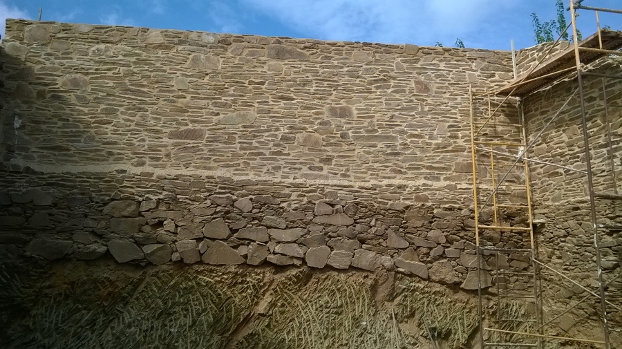 construcion de pared