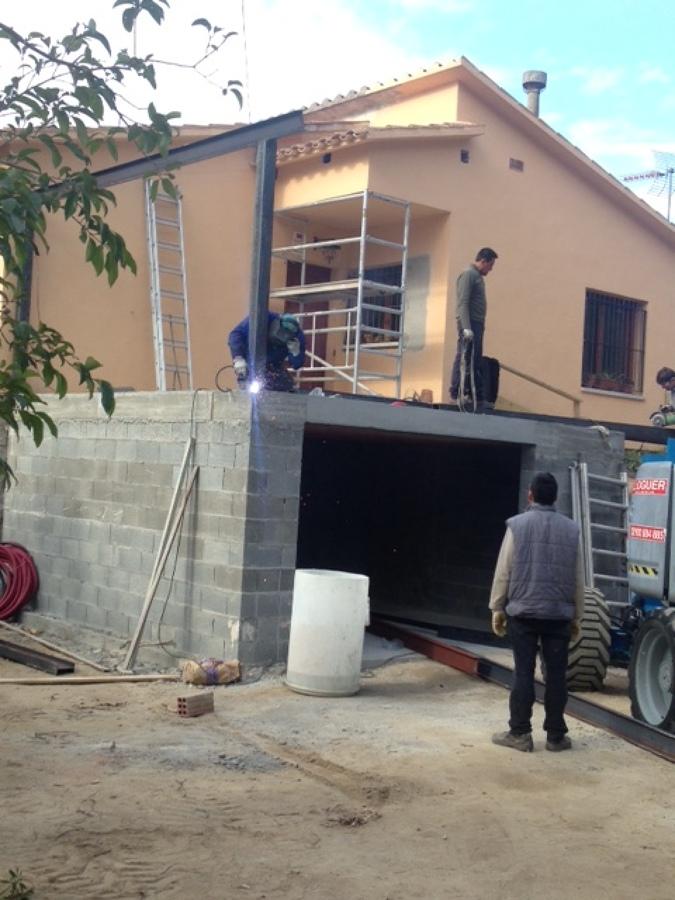 construir garaje y vaciar plancha