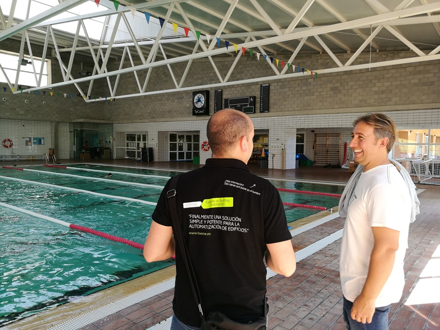 Control de ambiente de las piscinas