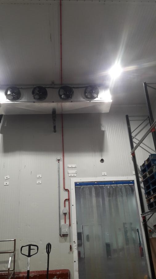 Control de incendios en cámara frigorífica