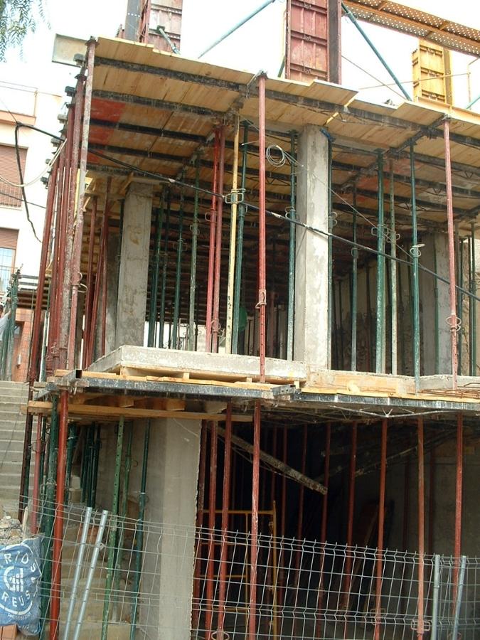 Contrucción de la estructura de la nueva vivienda