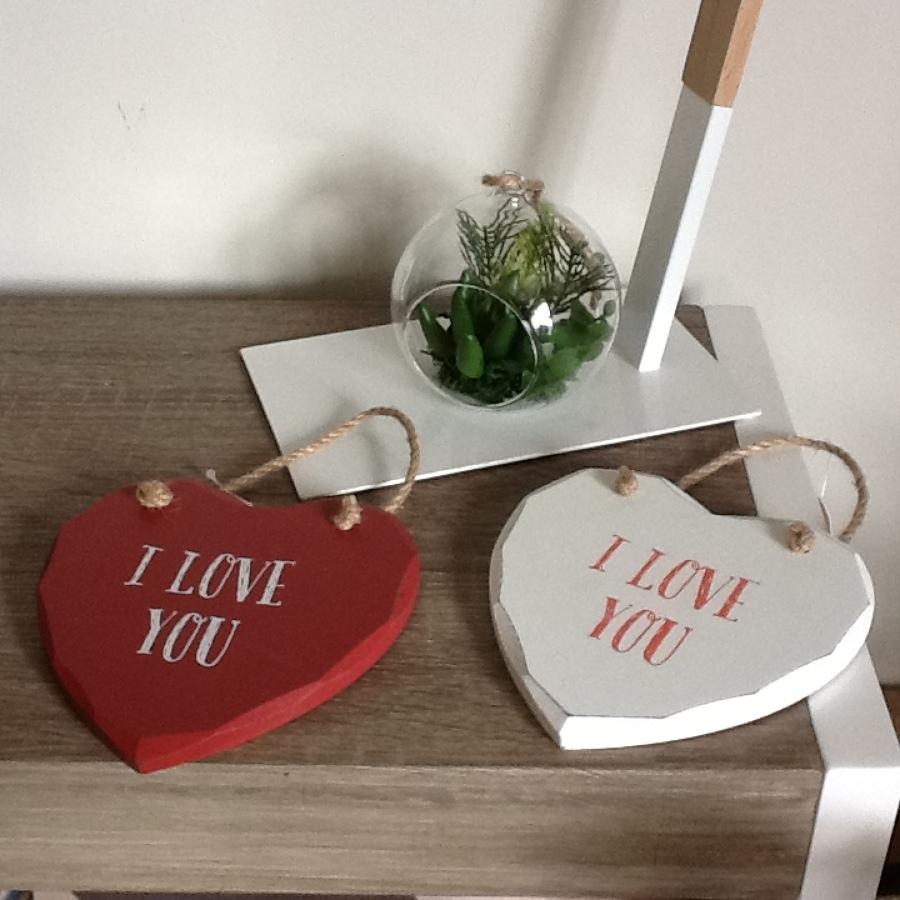 Foto corazon de madera i love you de mon deco shop by - Deco hogar ourense ...