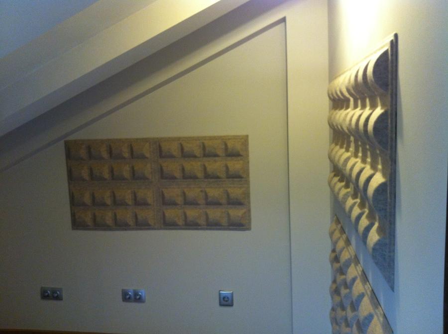 Corrección acústica, ángulos acabados