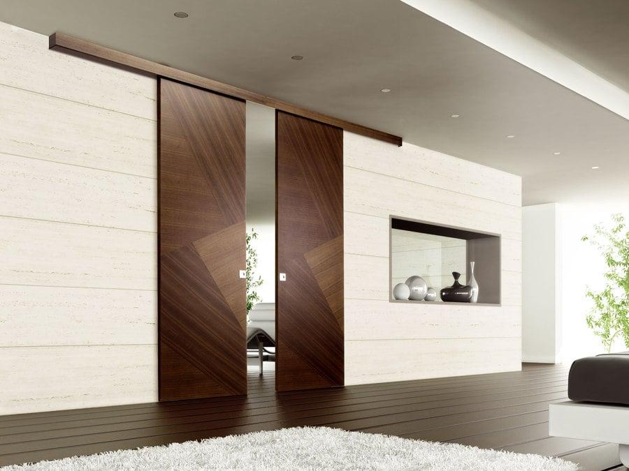 puerta corredera madera guas vistas - Puertas Correderas De Madera