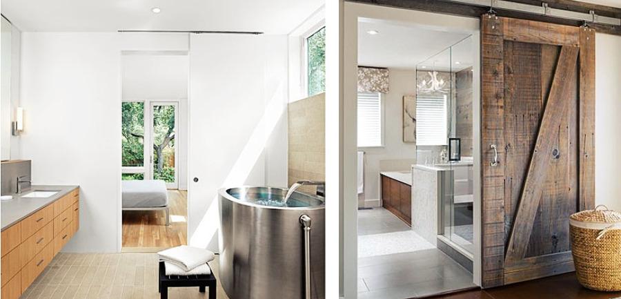 Puerta correderas en baños