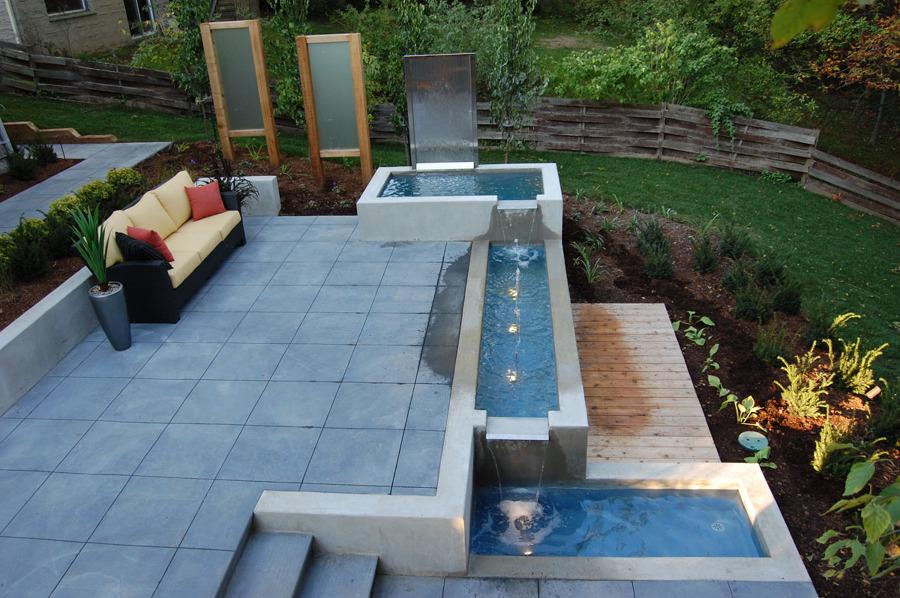 Backyard patio deck ideas - Fuentes Decorativas Un Oasis En Tu Terraza O Jard 237 N