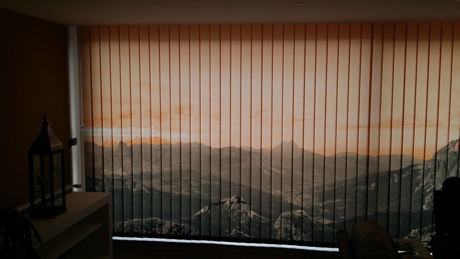 Cortinas verticales con impresi n digital ideas decoradores - Cortinas verticales madrid ...