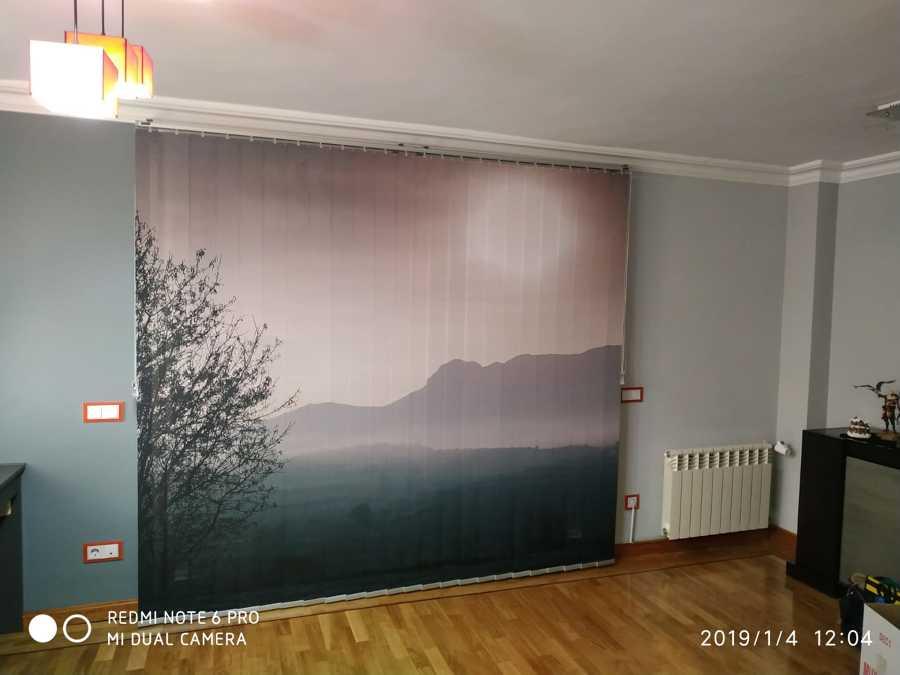 Cortina Vertical con Impresión Digital