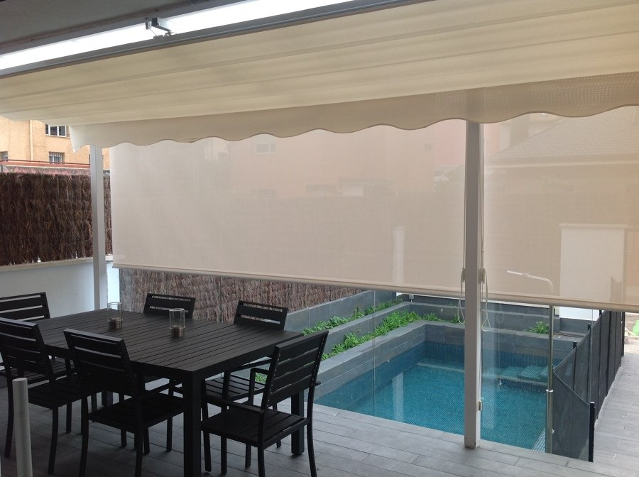 Cortinas enrollables de exterior ideas art culos decoraci n - Cortinas lona para exterior ...
