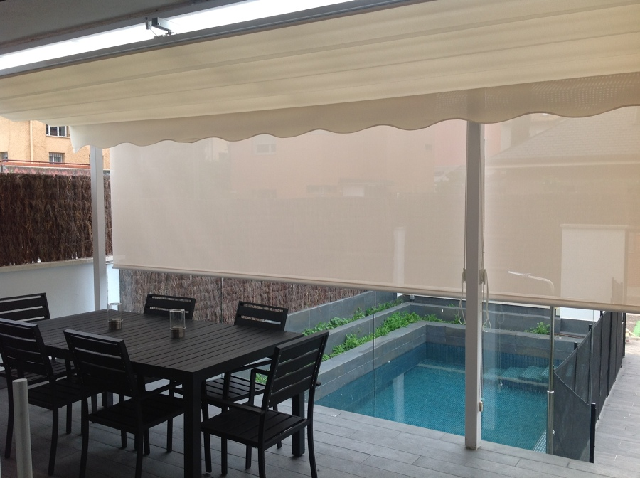 Cortinas enrollables de exterior ideas art culos decoraci n - Cortinas para porche exterior ...