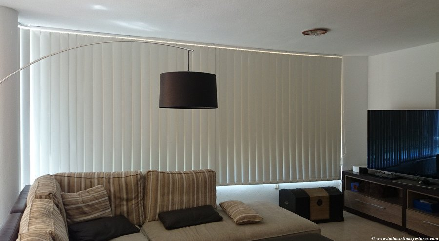 Cortinas verticales ideas art culos decoraci n - Cortinas lamas verticales ...