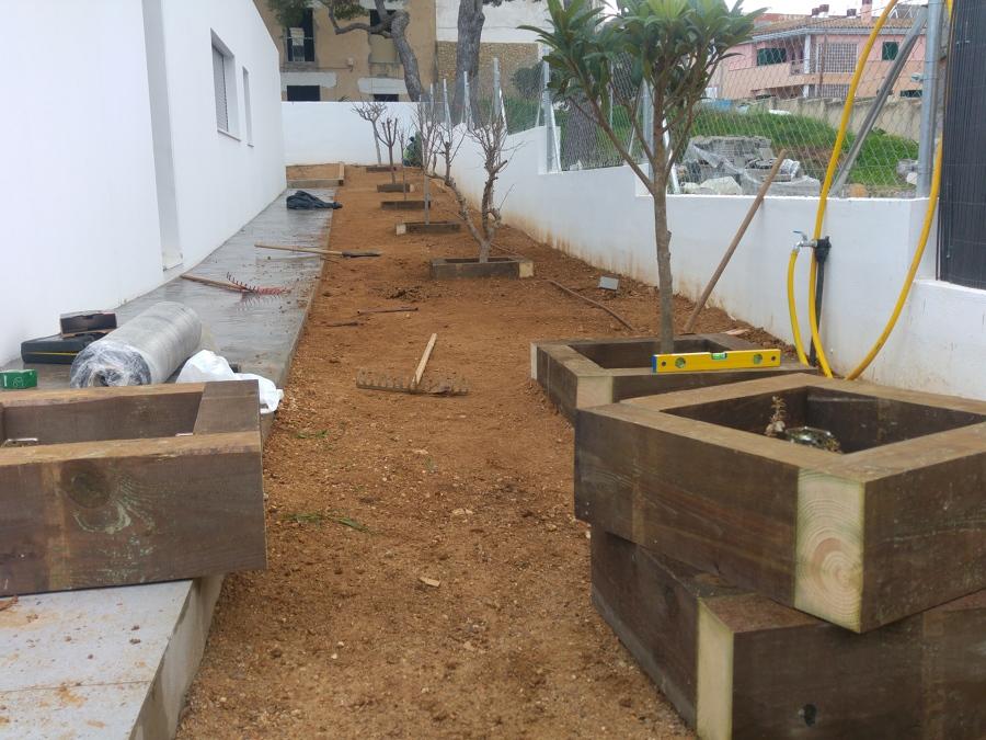 creación de cajones con ecotraviesas de madera