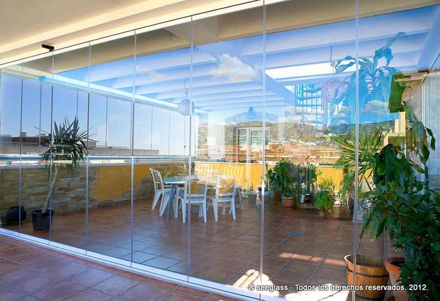 Algunos de nuestros trabajos ideas carpinter a aluminio - Cristales para terrazas ...