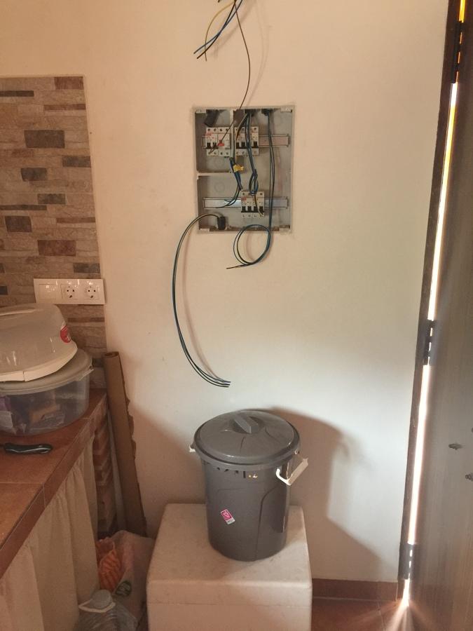 Cuadro eléctrico de conexión de equipos