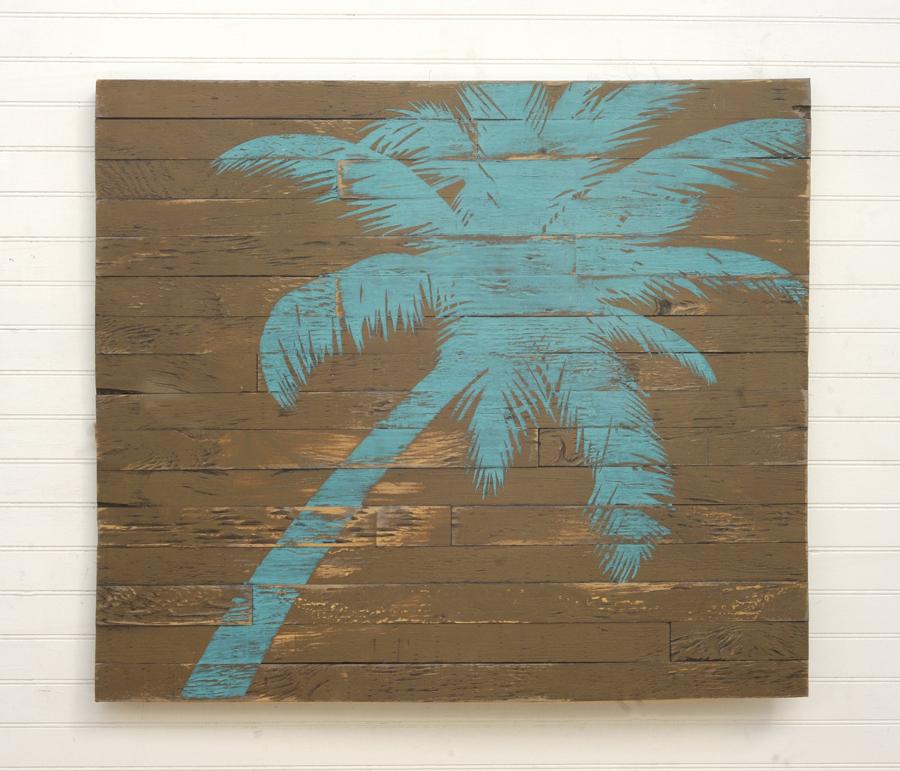cuadros palés con una palmera
