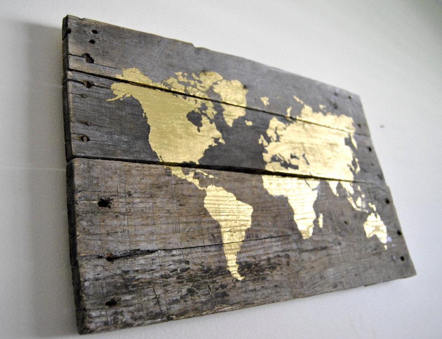 Cuadros hechos con pal s para amantes del reciclaje for Listones de madera para palets