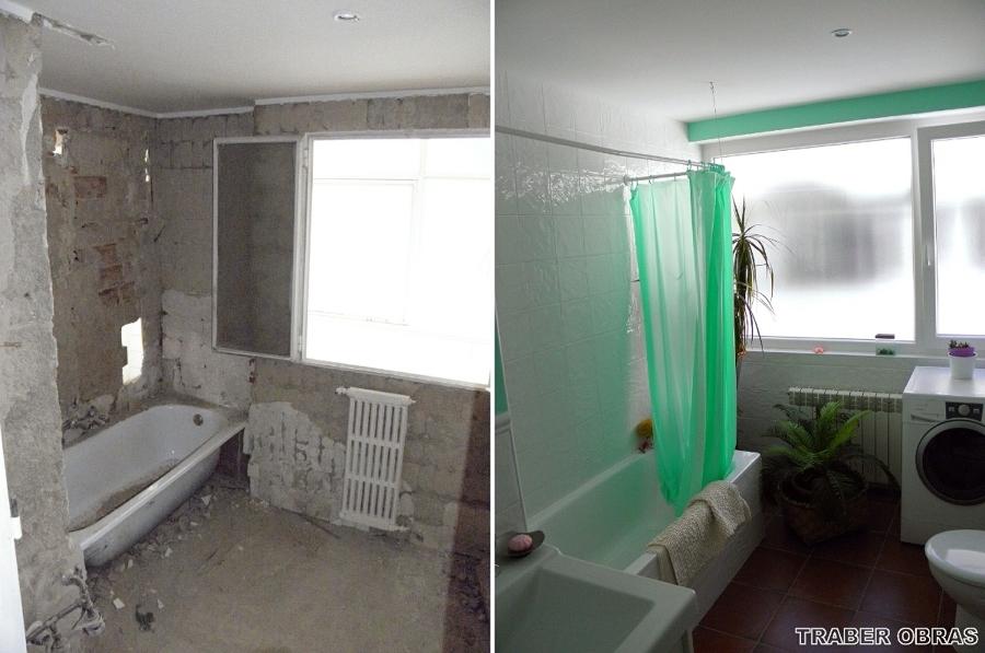 Cuarto de baño: antes y después de reforma.