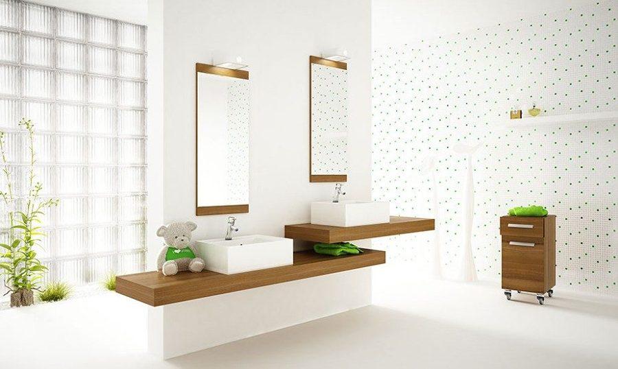 Foto cuarto de ba o con dos lavabos de marta 923724 habitissimo - Banos con dos lavabos ...
