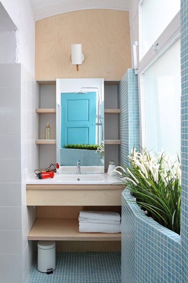 cuarto de baño con gresite