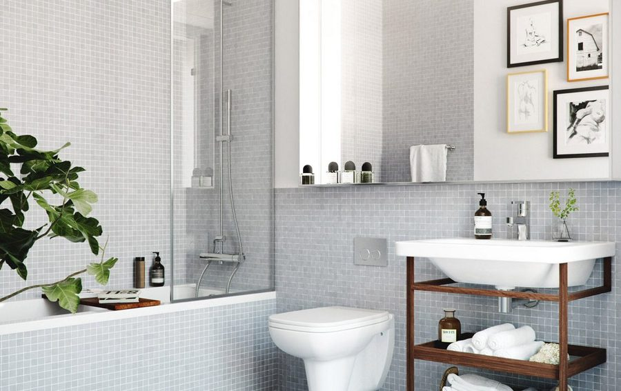Cuarto de baño con teselas