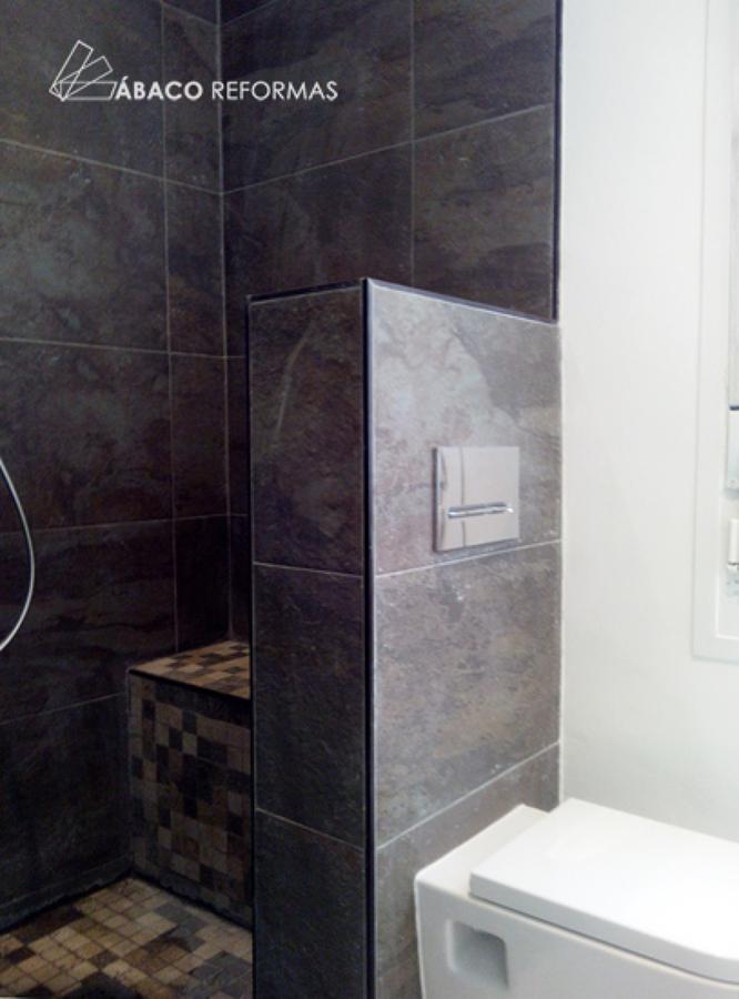 Foto cuarto de ba o principal con ducha de obra de baco - Cuartos de bano de obra ...
