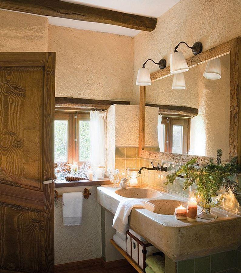Lavabos de piedra para todos los gustos y estilos ideas - Cuartos de bano rusticos fotos ...