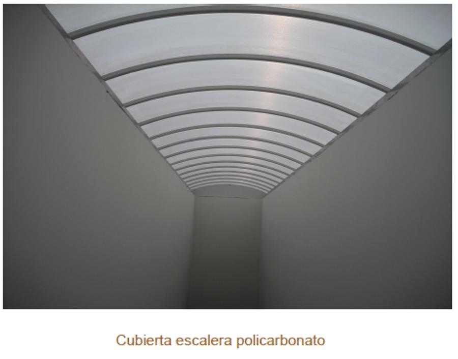 Cubierta escalera policarbonato