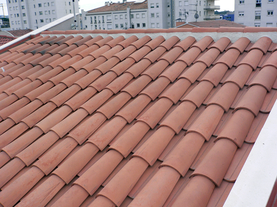 cubierta teja árabe curva