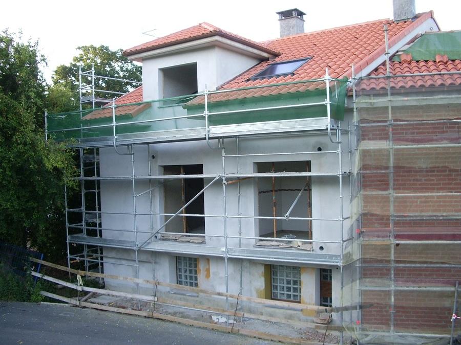 Cubierta y fachada