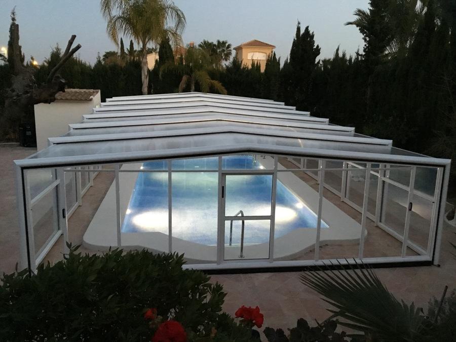 Cubiertas para piscinas telescópicas