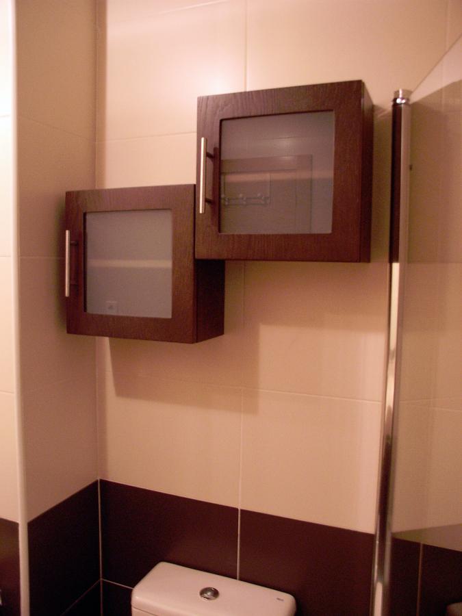 Muebles Para Baño Wengue:Foto: Cubos Wengue con Cristal Mate de Muebles De Baño Jara #282218