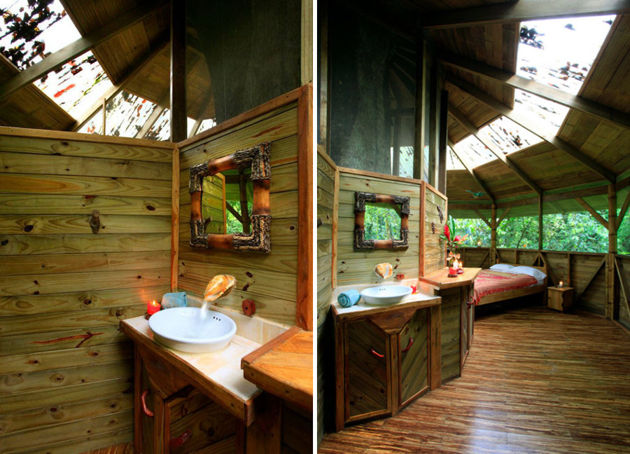interior casa de árbol