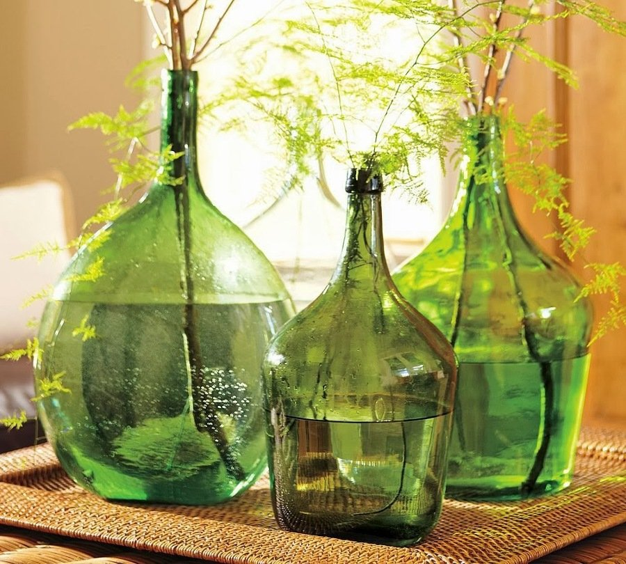 damajuanas verdes