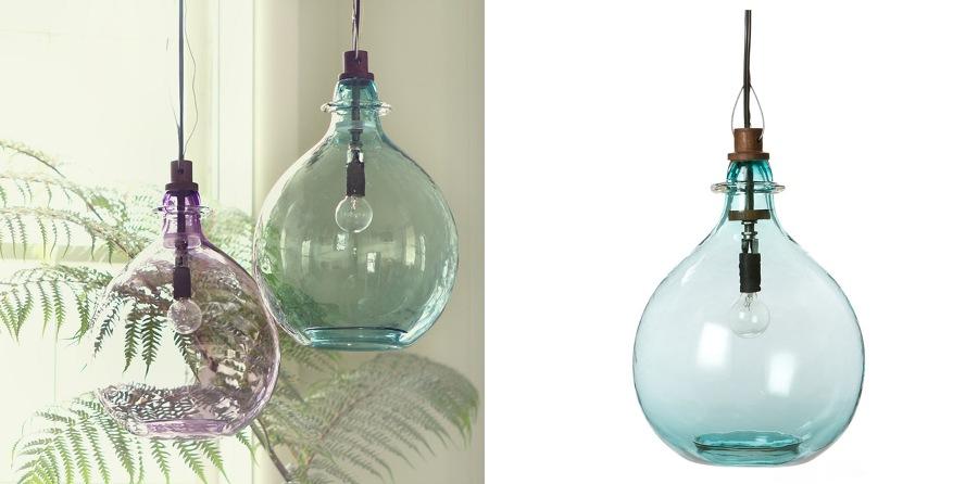 damajuanas, lámparas