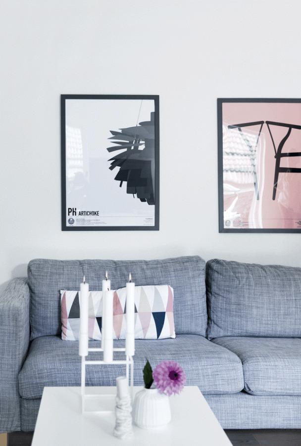 decoración con pantone rosa cuarzo y pantone serenidad