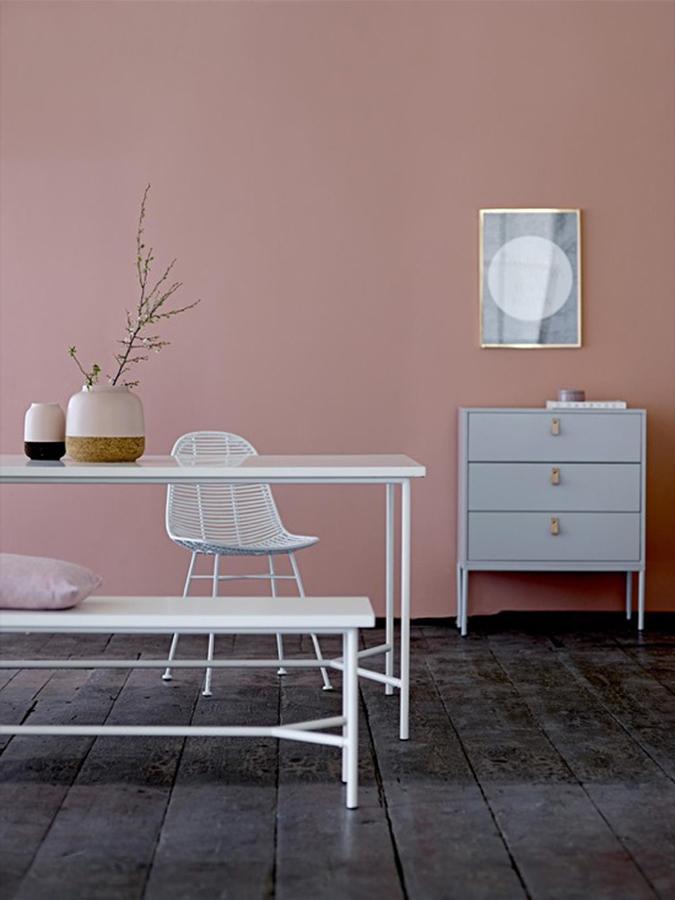 decora tu casa con rosa cuarzo y serenidad los colores pantone 2016 ideas decoradores. Black Bedroom Furniture Sets. Home Design Ideas