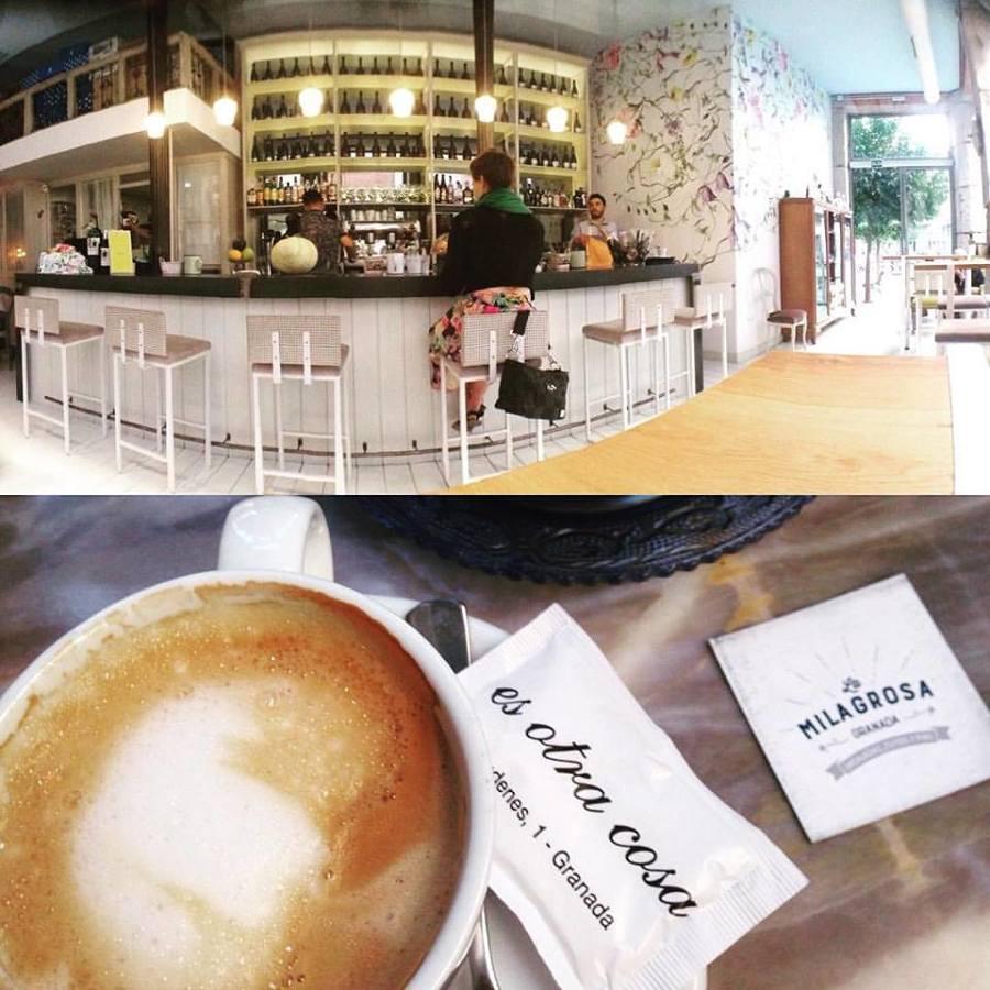 Foto decoraci n con papel pintado en granada cafeter a - Decoracion en granada ...