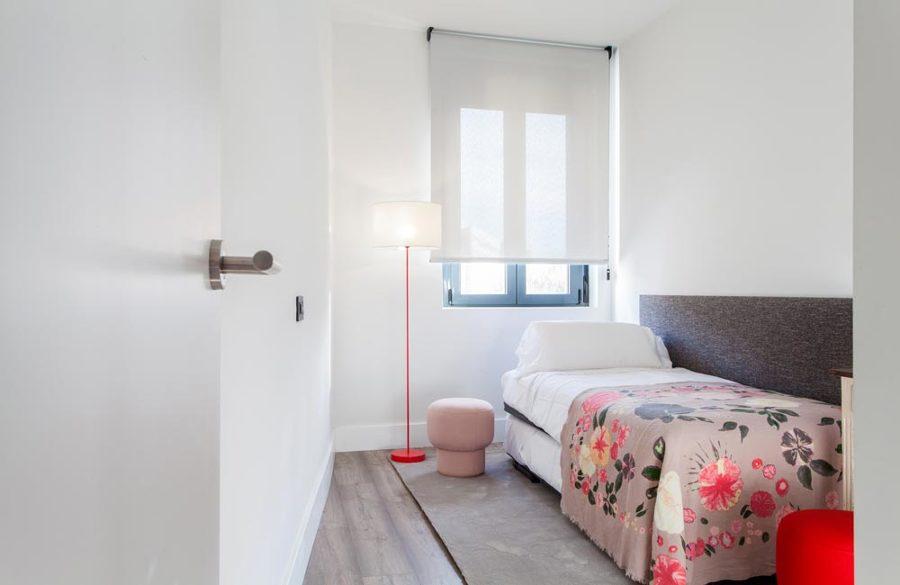 Decoración de dormitorio indvidual pequeño