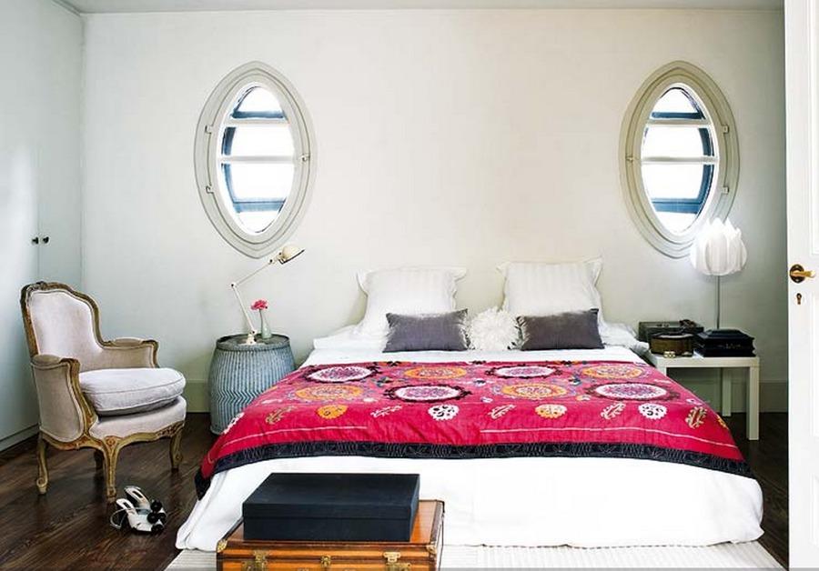 dormitorio ecléctico marinero