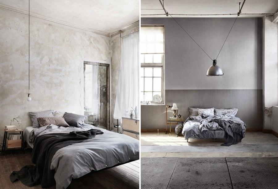 Claves para decorar un dormitorio de estilo industrial for Paredes estilo industrial