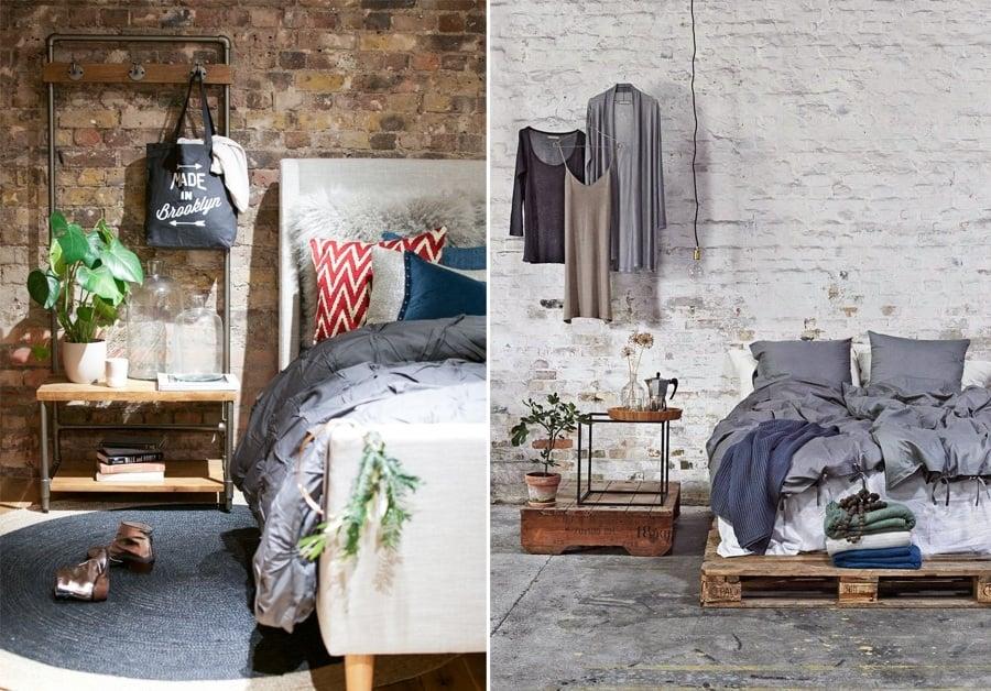 Claves para decorar un dormitorio de estilo industrial - Como decorar una pared con madera ...