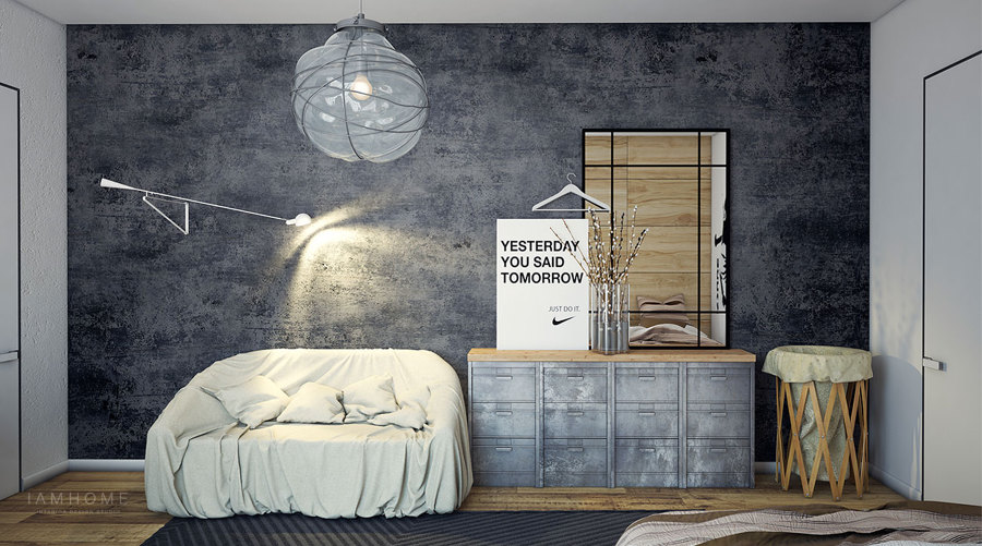 decoración industrial dormitorios