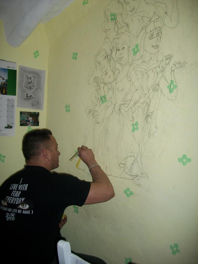 Decoración Infantil  Pintura a mano alzada