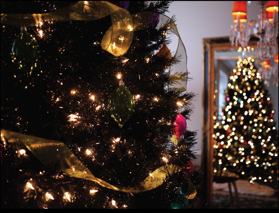C mo decorar un rbol de navidad negro ideas art culos - Como adornar un arbol de navidad blanco ...