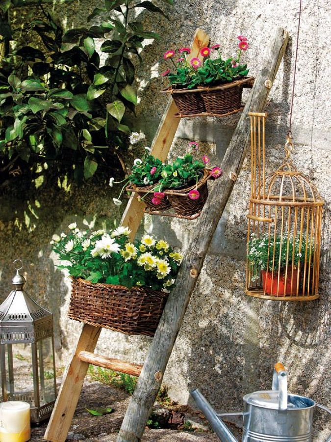Decora tu jard n con ideas low cost ideas decoradores for Como hacer un jardin rustico