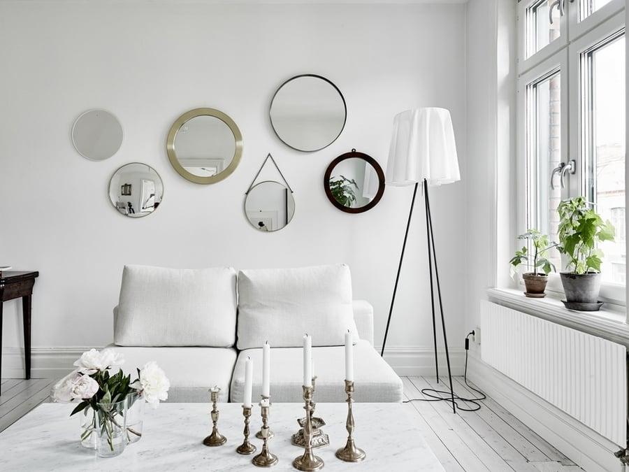 foto decorar con espejos redondos de advento proyectos